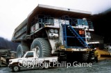 Ore haul truck at the Grasberg mine