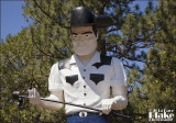 586389 Hat Creek Cowboy Muffler Man - Hat Creek CA 2014