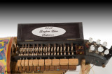 Brer Rabbit Hurdy Gurdy with cover open.
