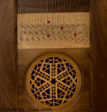 Detail on Giant Bowed Psaltery (Modern).