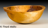 Weeping birch bowl with handles. 15.5 x 5.5.