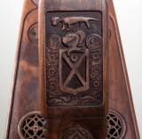 Carving detail on the Fitzgerald Kildare harp.