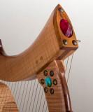 Detail of the Lap Harp.