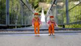Statler and Waldorf on the Hanging Bridge in Haifa