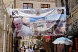 Pope Francis Banner in Old City