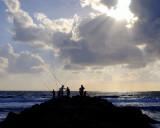 Fisherman on Camel Beach Haifa
