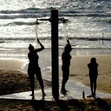 Showering on Camel Beach Haifa