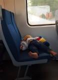 Sleeping passenger