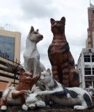 Kuching, cat statue