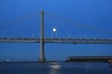 Bay Bridge Super Moon