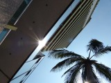 Looking Up at El Cid Moro Beach Resort