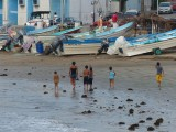 Evening Family Stroll on Playa Norte