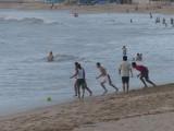 Malecón Beach Football Game