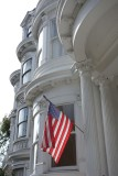 Queen Anne Victorian with American Flag