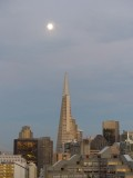 Transamerica Pyramid Moonrise