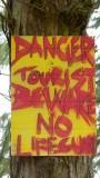 Lumahai Beach Sign