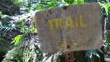 Uluwehi Falls Trail Trail Sign