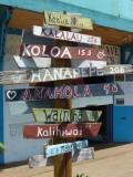 Kapaa Distance Signs