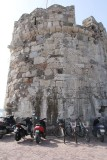 Kos Castle Wall with Mopeds & Bikes