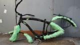 Abandoned Green Furry Bike