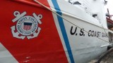 U.S. Coast Guard ship in port