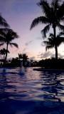 Mayan Palace Pool Twilight