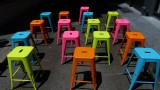 Colorful Ice Cream Stools