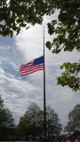 Liberty Island Flag at half staff in remembrance of 9/11