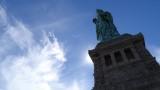 Looking up at Lady Liberty