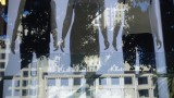 Macy's Union Square Window Reflection