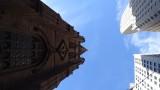 Looking Up at Trinity Church