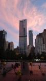 9/11 memorial sunset