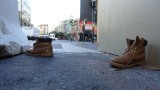 Someone's boots on 7th Street