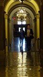 Running down the US Capitol Hallway