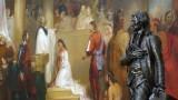 Thomas Jefferson statue and Baptism of Pocahontas painting