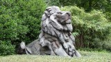 Lion Sculpture at National Zoo Entrance
