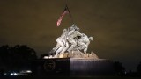 US Marine Corps War Memorial at Night