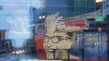 Popsons 6th & Market Window Reflection