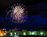 Fireworks Over The VMI Barracks, Lexington, VA