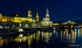 Dresden Night Cityscape from the Elbe