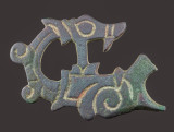 Ringerike style dragon, bridle cheekpiece, 6 cm, 10th-11th century, Essex