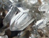 Anglesite crystals to 3 mm, Dry Pry Vein, Burn Hill, Frosterley, Durham.