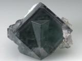Fluorite penetration twin, 25 mm. Blackdene Mine, Weardale, Co Durham. Ex Arthur Scoble.