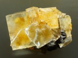 Fluorite crystals to 16 mm on edge in 3 cm group. Burtree Slitts, Queensberry Iron works, Cowshill, Weardale, Co Durham.