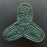 Viking trefoil brooch, 43 mm, Yorkshire, 10th century.