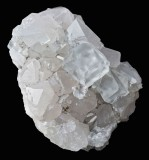 Cambokeels twinned fluorite on quartz, crystals to 15 mm, 6 cm specimen.