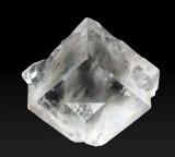 Fluorite colourless twin, 2 cm, Cambokeels Mine.