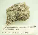Barytocalcite with Arthur Russell 1932 label.