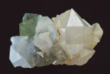 22 mm doubly-terminated quartz with fluorite (46 mm), West Pasture Mine, Weardale, Co Durham.
