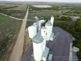 DJI. Grain Silos and a Road To Nowhere